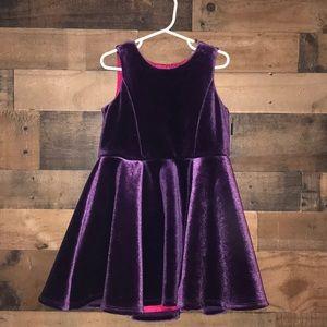 Osh Kosh purple velvet toddler dress size 5T
